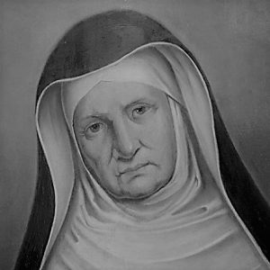 Grey image of Mother Theresa
