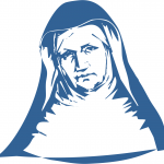 Blue Mother Theresa icon