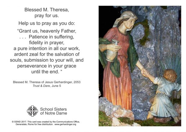 Mother Theresa prayer card