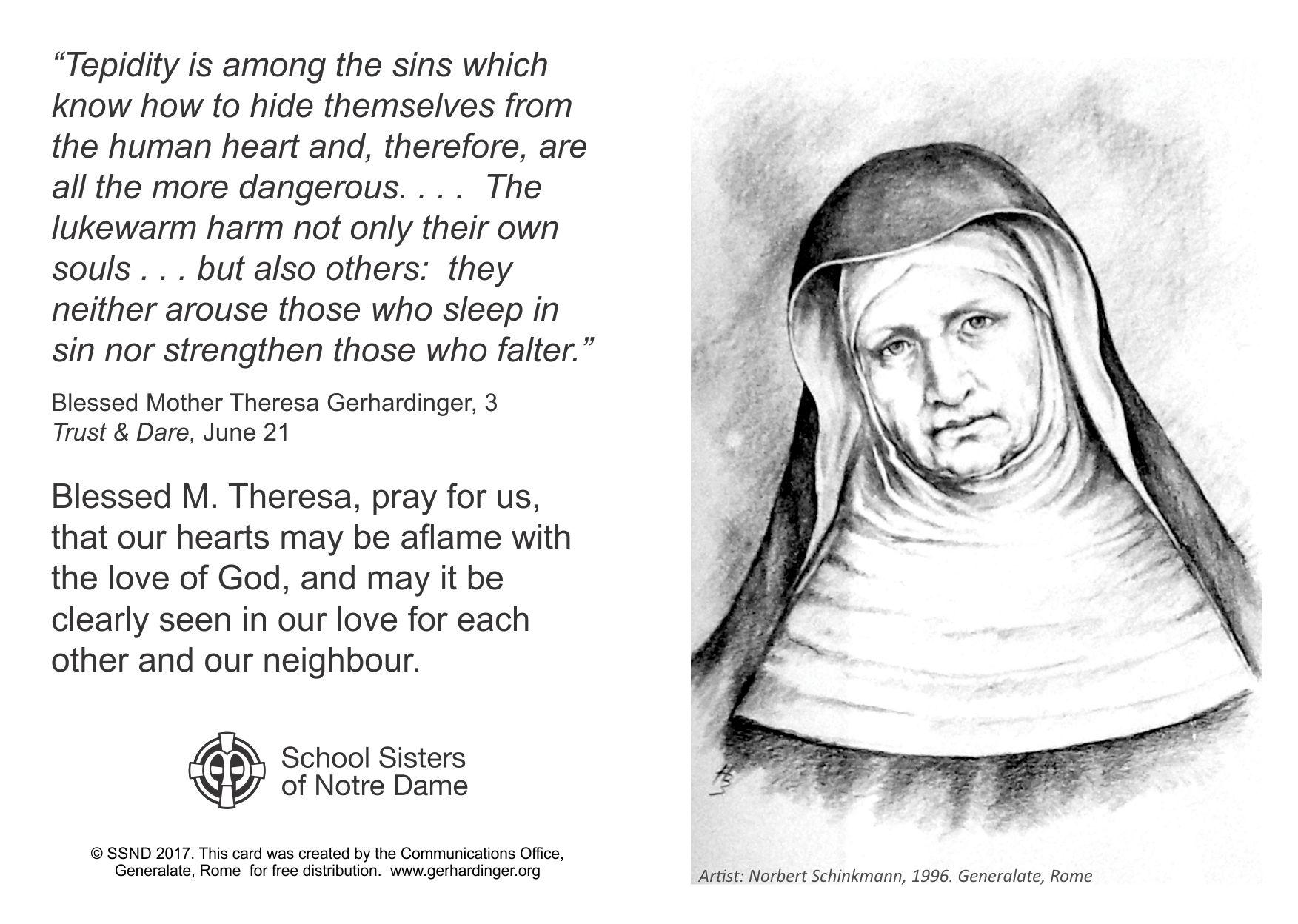 Prayer resources - SSND congregational website