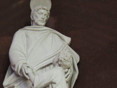 Generalate Chapel statues: Joseph the worker
