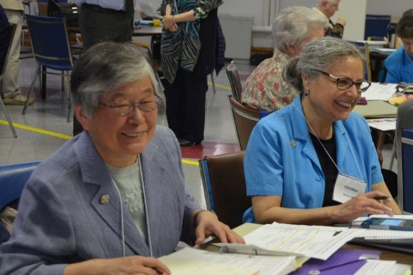 Sisters Christine and Janet at the Provincial Assembly