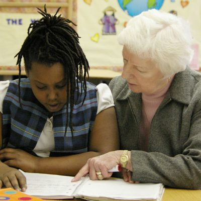 Sister Luanne Boland tutors a student in St. Louis.
