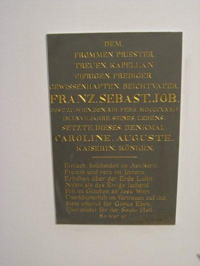 Fr Sebastian Job, plaque