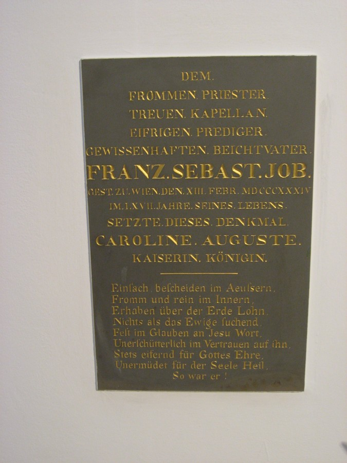 Fr Sebastian Job, plaque