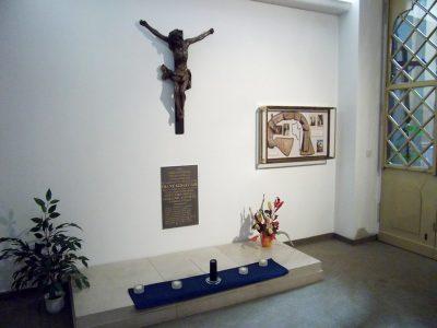 Father Sebastian Job's tomb in the church