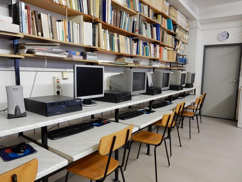 Budapest, Hungary, school computer room