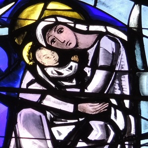 Mary and Jesus, Generalate chapel window