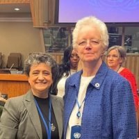 Sisters Beatriz and Eileen during CSW63 at the United Nations, New York.