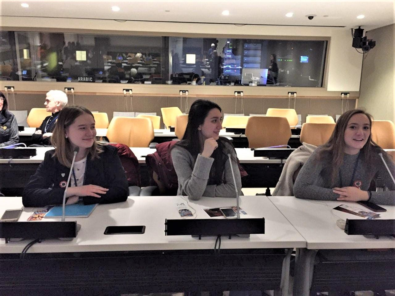 Mira tries out the equipment before a session at CSW63.