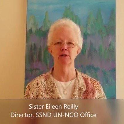 Sister Eileen Reilly grüßt zum 8. März