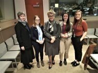 Our delegates from Hungary with Ms Katalin Bogyay Ambassador and Permanent Representative of Hungary to the UN. (center)