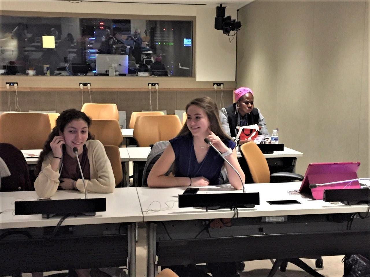 American students try out the equipment before a session at CSW63.