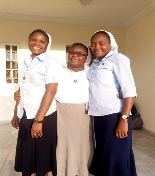 From L-R, Sr. Esther Bassey, Sr. Dorothy Enang, and Sr.Monica Benedict, School Sisters of Notre Dame,Serving in Anwule –Oglewu, Benue State, Nigeria.