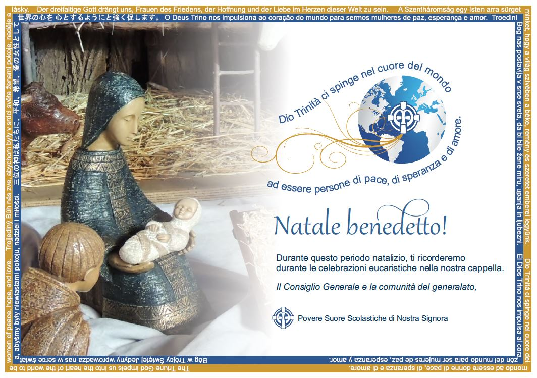 Christmas greeting from the sisters of the General Council and Generalate community - Italian