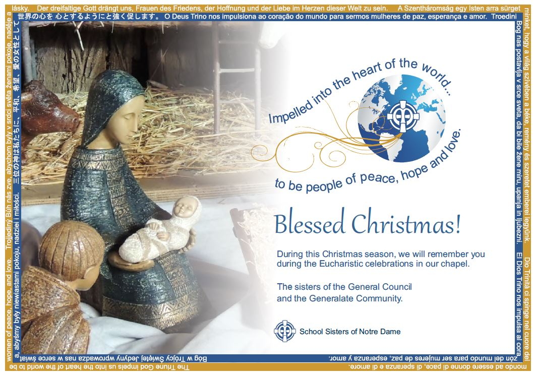 Christmas greeting from the sisters of the General Council and Generalate community - English