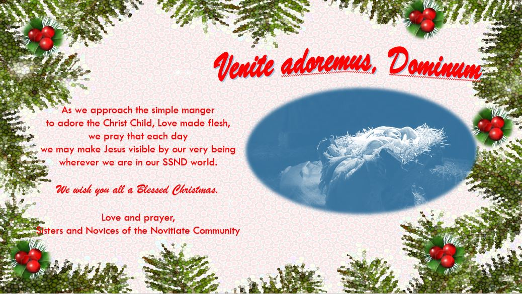Christmas greetings from the Novitiate community.